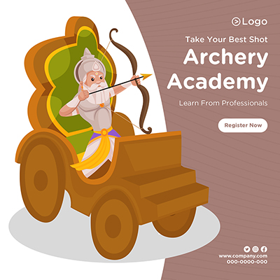 Banner design with archery academy-12-small