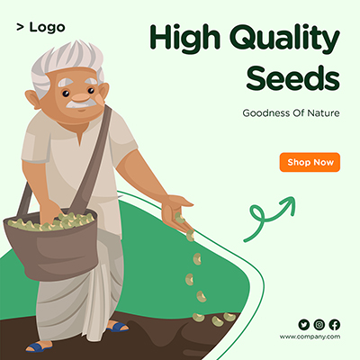 Banner for high quality seeds goodness of nature