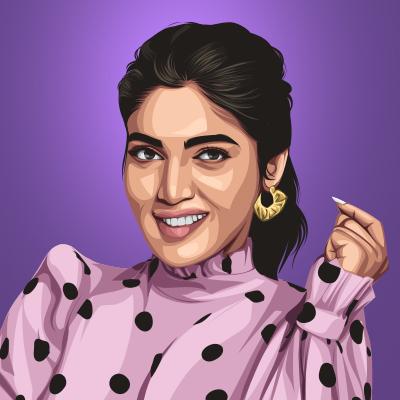 Bhumi Pednekar Vector Illustration-Thumbnail Small