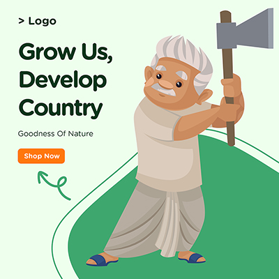 Banner for grow us and develop country