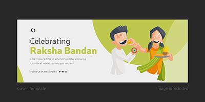 Cover page template of celebrating Raksha Bandhan