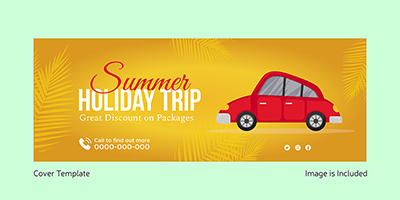 Cover template of summer holiday trip packages 6 small