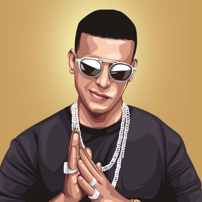 Daddy Yankee Vector Illustration- Thumbnail Small