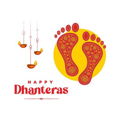 Indian festival happy Dhanteras banner template