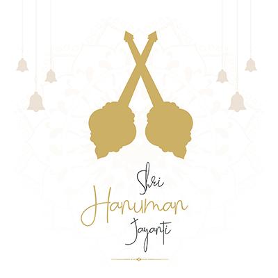 Shri hanuman jayanti with banner template
