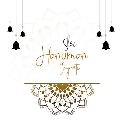 Shri hanuman jayanti with template banner