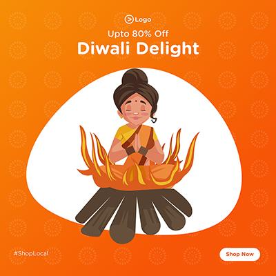 Template banner for Diwali delight