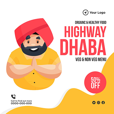Template banner of highway dhaba-03 small