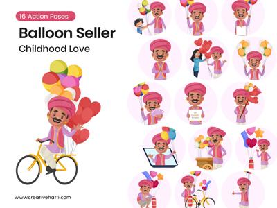 Balloon Seller- Childhood Love Vector Bundle