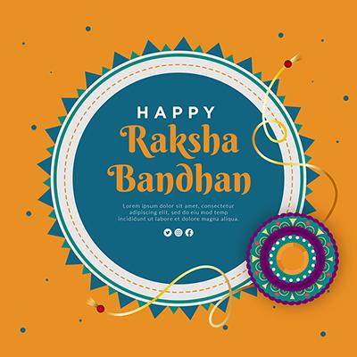 Banner design of happy raksha bandhan template