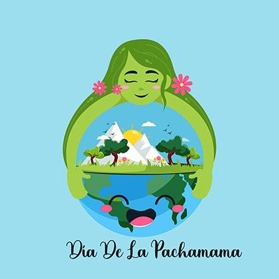 Banner design template of dia de la pachamama