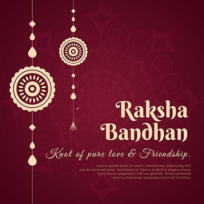 Banner for happy raksha bandhan template