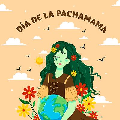 Banner template for dia de la pachamama