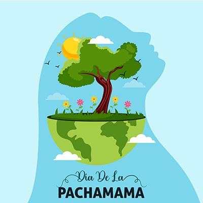 Banner template of dia de la pachamama