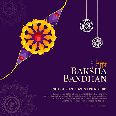 Banner template of happy raksha bandhan
