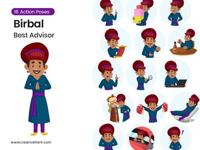 Birbal- Best Advisor Vector Character Bundle