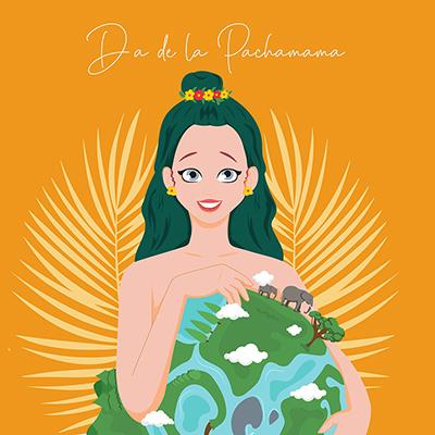 Dia de la pachamama banner template