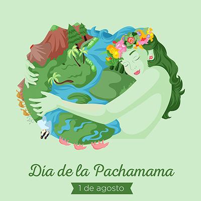 Dia de la pachamama banner template design