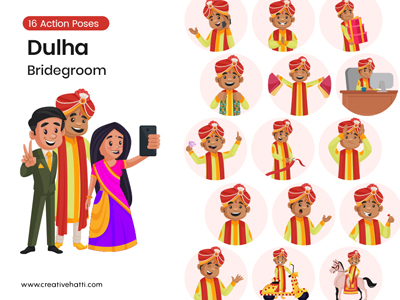 Dulha- The Bridegroom Character Vector Bundle