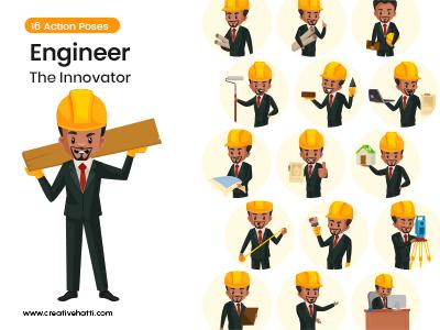 Engineer – The Innovator Character Vector Bundle