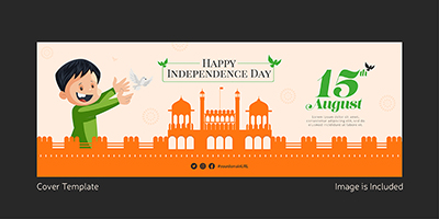 Facebook cover template of happy independence day