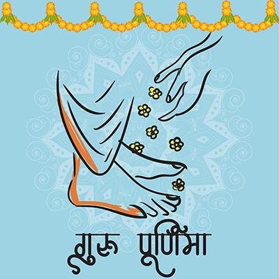 Guru Purnima template design banner