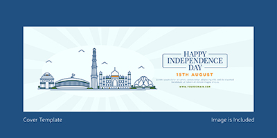 Happy independence day facebook coverpage design