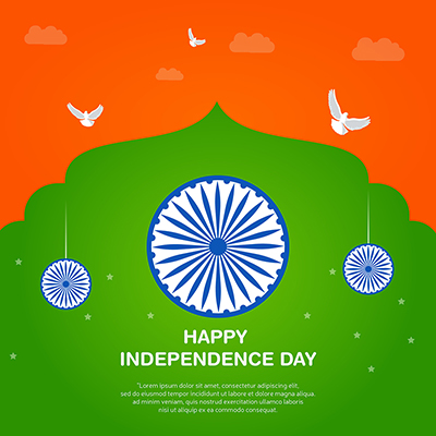 Happy independence day of India banner template design