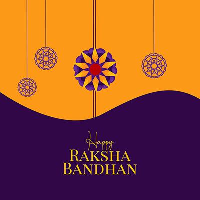 Happy raksha bandhan banner template