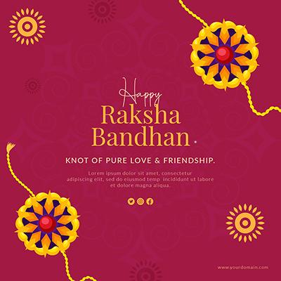 Happy raksha bandhan celebrations banner template