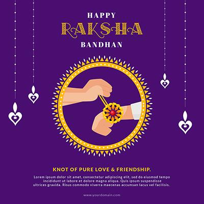 Happy raksha bandhan celebrations template banner