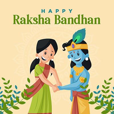 Happy raksha bandhan template banner