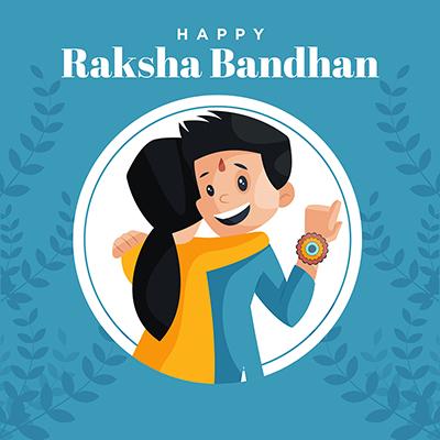 Happy raksha bandhan template design banner
