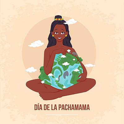 Illustration of dia de la pachamama banner template design