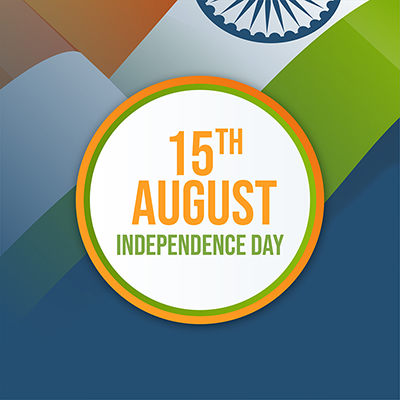 Independence day with Indian flag banner design template