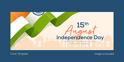 Independence day with Indian flag cover template