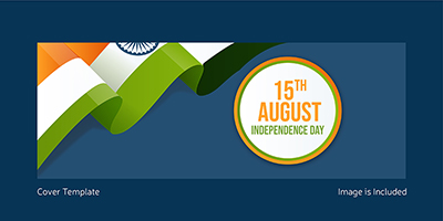 Independence day with Indian flag cover template design