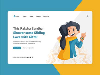 Landing page of raksha bandhan festival offer