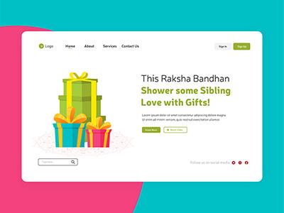 Landing page of raksha bandhan festival offers
