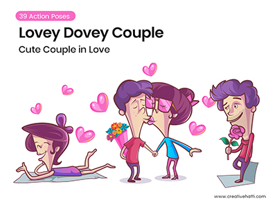 Lovey Dovey Couple Character Bundle- small