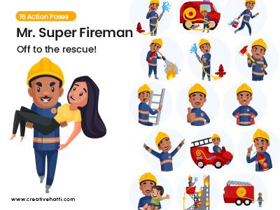Mr. Super Fireman- Off to the rescue- small