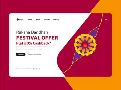 Raksha Bandhan festival offer with landing page