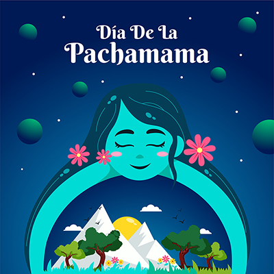 Template banner for dia de la pachamama