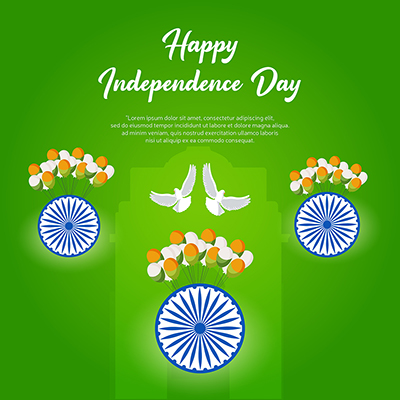 Template banner of happy independence day of india 17 small