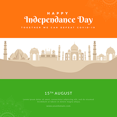 Template with happy independence day banner 24 small